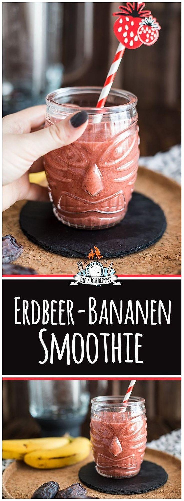 erdbeer bananen smoothie rezept