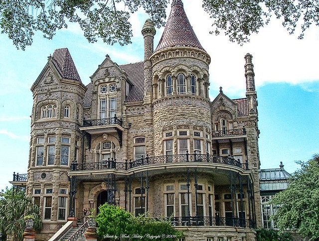 Built of stone and steel for the railroad magnate Walter Gresham and his  family, this