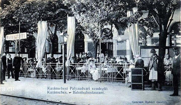 Caransebes - Restautant - gara - 1908