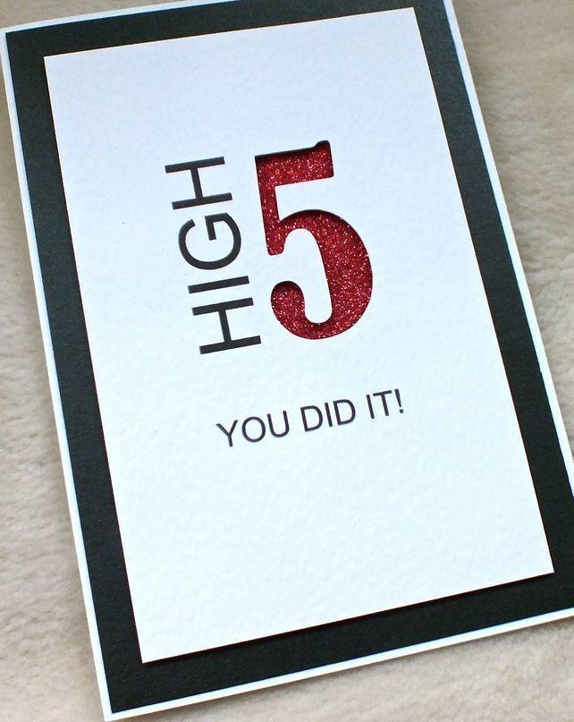 Handmade Contemporary Congratulations Card £3.60 #exam pass #graduation