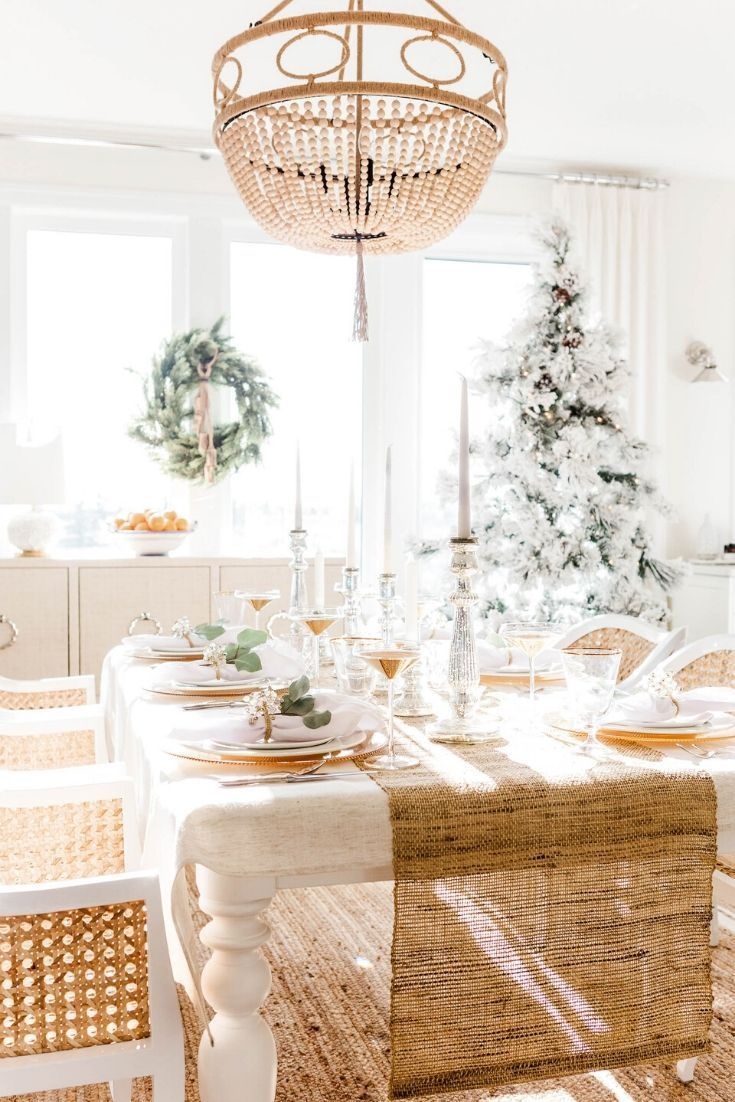 How To Decorate Dining Table When Not In Use Holiday Interior Dining Table Decor Christmas Table Settings