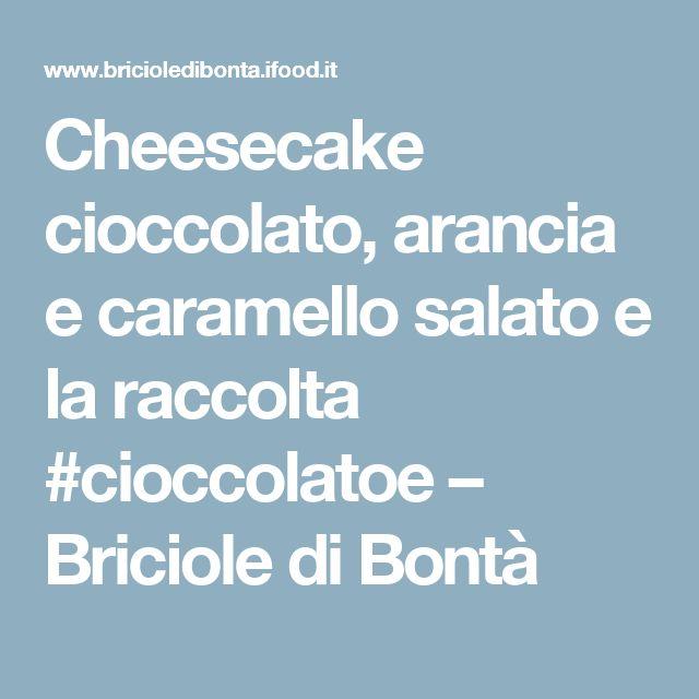 Cheesecake cioccolato, arancia e caramello salato e la raccolta #cioccolatoe – Briciole di Bontà