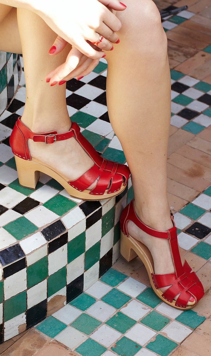 .love these red shoes are awesome