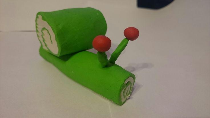Ślimak snail plastelina art activities for kids