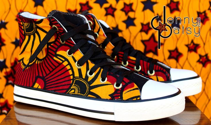 Anakara hi-top sneakers from Jenny Patsy ~African Prints, African women dresses, Kitenge, Ankara, Kente, African fashion styles, African clothing, Nigerian style, Ghanaian fashion ~DK