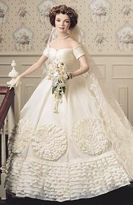 """Jacqueline Kennedy"" Bride Doll....Franklin Mint"