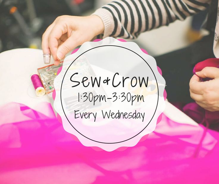 Every Wednesday, join us for Sew and Crow at our shop in Beedon! Just turn up and chat with fellow #sewing lovers whilst working on your own project.