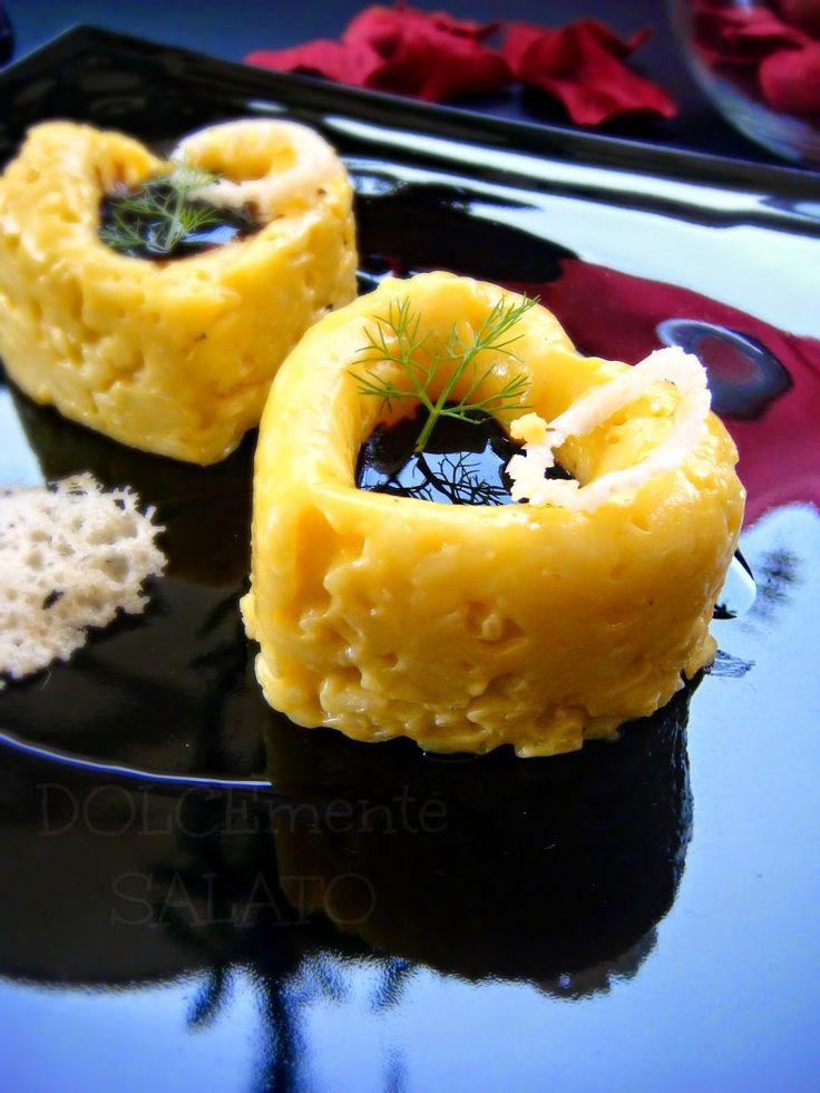 DOLCEmente SALATO: Tortino di risotto allo zafferano con glassa di balsamico