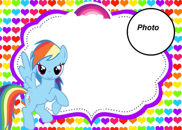 My Little Pony Party Invitation With Photo Pinteres - My little pony birthday party invitation template