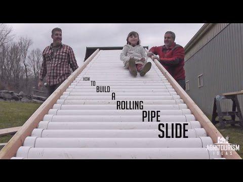 Erstellen Sie eine Rolling Pipe Slide für Ihren Garten