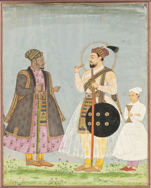 MUHAMMAD ADIL SHAH (REIGNED 1627-1656) OF BIJAPUR AND HIS AFRICAN PRIME MINISTER (WAZIR) IKHLAS KHAN