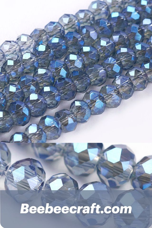 10 Strand Jewelry Faceted Glass Rondelle Beads Jewelry Bead Spacers For Bracelet