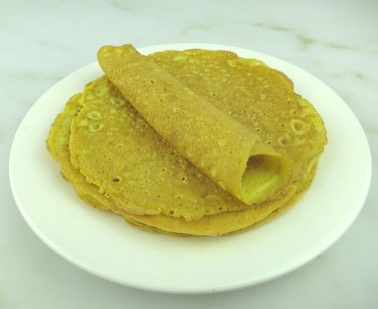Perfect Paleo Crepes! I was amazed these Paleo Crepes are so quick and easy. Just blend 4 ingredients and presto! – perfect crepes like Julia Child's! These are Paleo, gluten-free, grain-free, sugar-free, tree-nut-free, soy-free and nightshade-free. Hooray! You can fill them, roll them or fold them. You can make delicious Paleo Mushroom Crepes, or Paleo Chocolate Crepes! #paleo #desserts