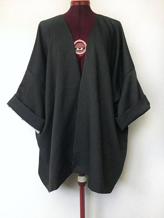 Rifle Paper Company Reversible Floral Layering Kimono Jacket