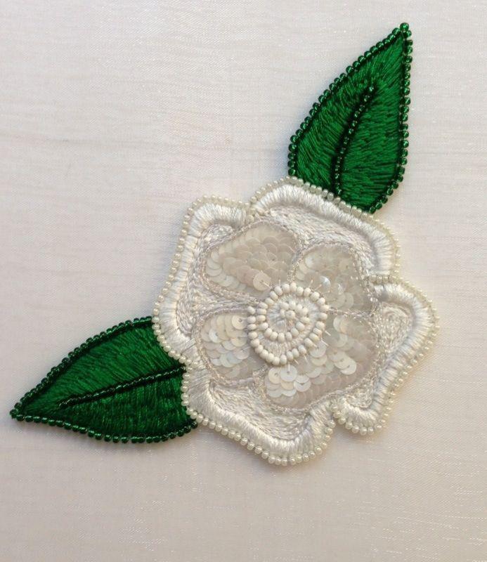Gardenia Broderie au crochet de Luneville
