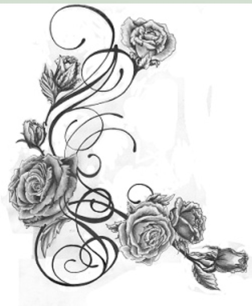 Roses and vines.