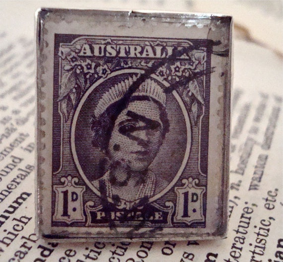 1942 Princess Elizabeth Australia Vintage Stamp is by SilverGypsys, $48.00