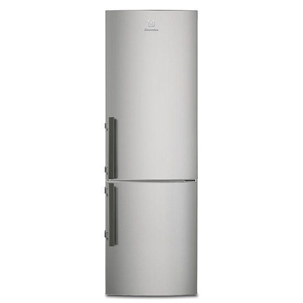 Rostfri kyl/frys med automatisk avfrostning i frysen, LED-belysning, högerhängd och omhängningsbar - Kyl/Frysar - EN3441JOX - Electrolux Home