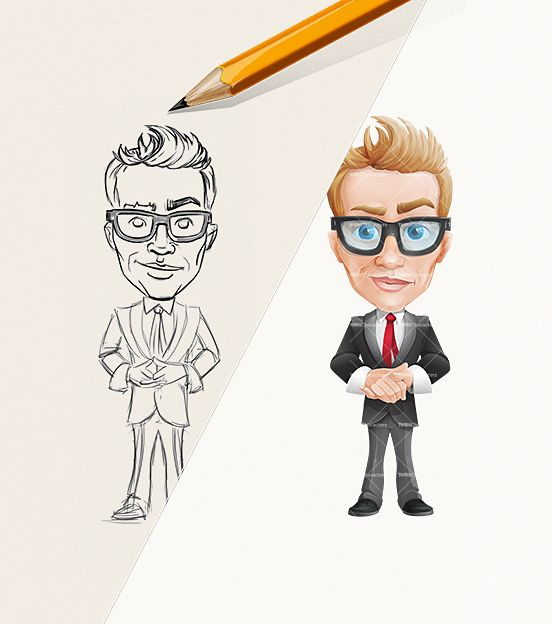 Cartoon Characters In Suits : Cartoon guy wearing a suit suits and sketches