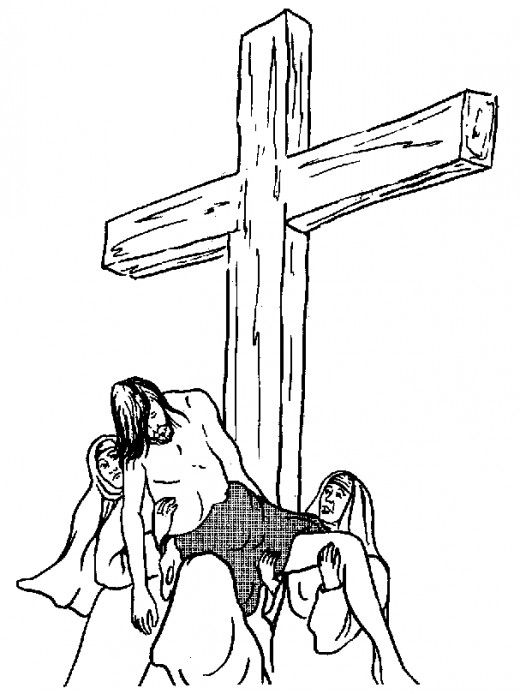 Jesus Easter-themed coloring in picture
