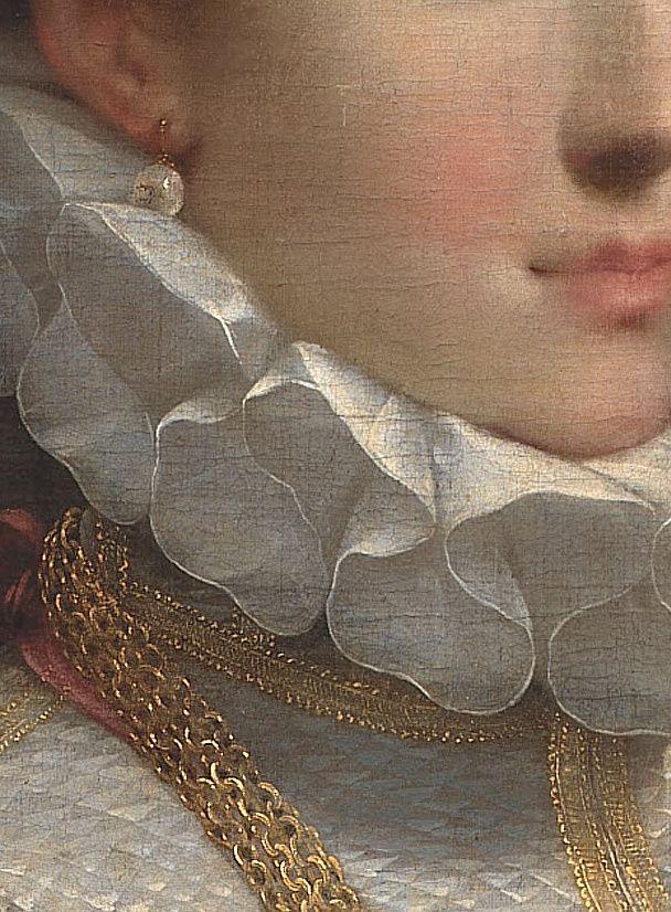 Portrait d'une jeune fille ( détail ). / Portrait of a young lady, detail. / By Federico Barocci.