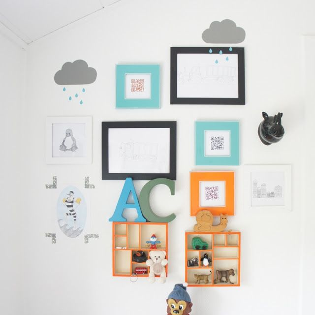 A wall in my son' room.