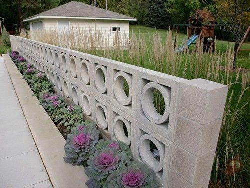 mid century modern decorative block wall