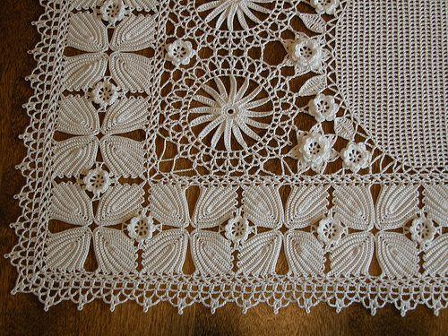 Lace crochet close up