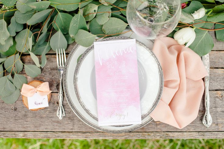 Wedding Table Setting, Pinks and blushes