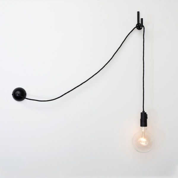 Hook wall lamp. Saw this in a house, looks great and is an easy fix to a room without light fixtures.