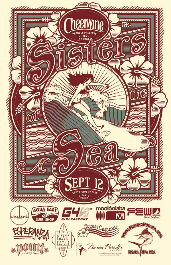 vintage surfing poster - Google Search
