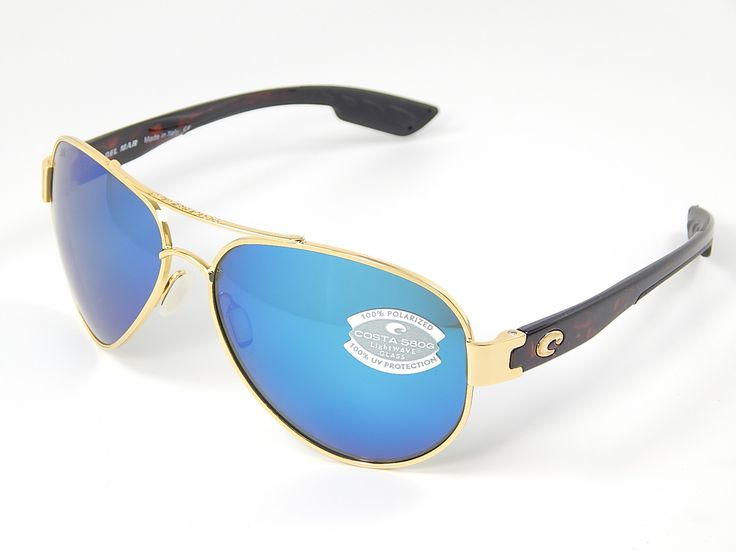 Costa Del Mar South Point 580G Gold/Blue Mirror Polarized Sunglasses