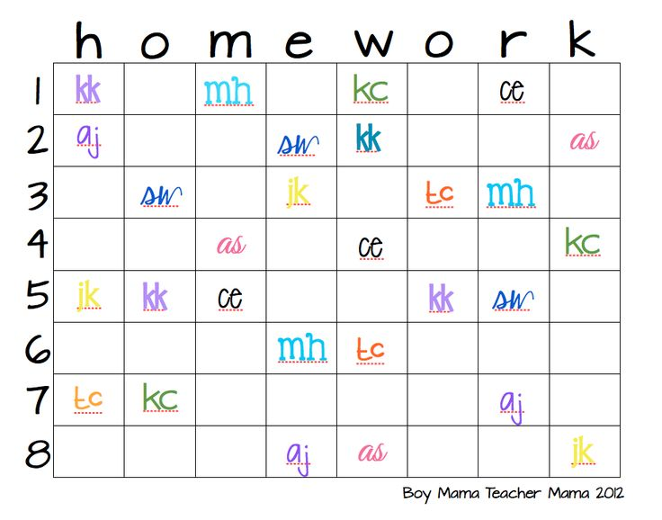 Best  Homework Chart Ideas On   Homework Checklist