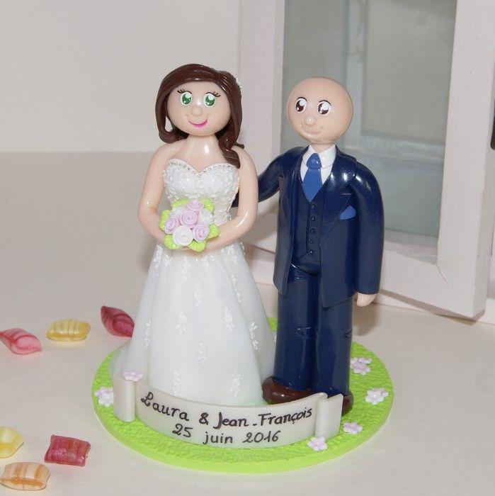 Wedding cake topper / figurines de mariage personnalisées / gâteau de mariage