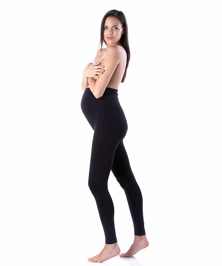 Seamless Maternity Leggings - Black - Maternity Clothing