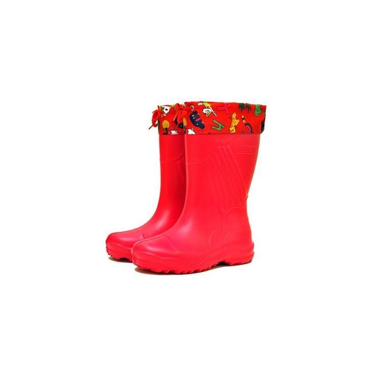 Сапоги nordman для девочек красные с утепленным вкладышем ЭВА