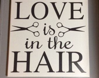 Painted canvas sign hair salon decor hair by SunShineWallArt