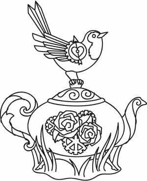 Steampunk Teatime design (UTH3375) from UrbanThreads.com