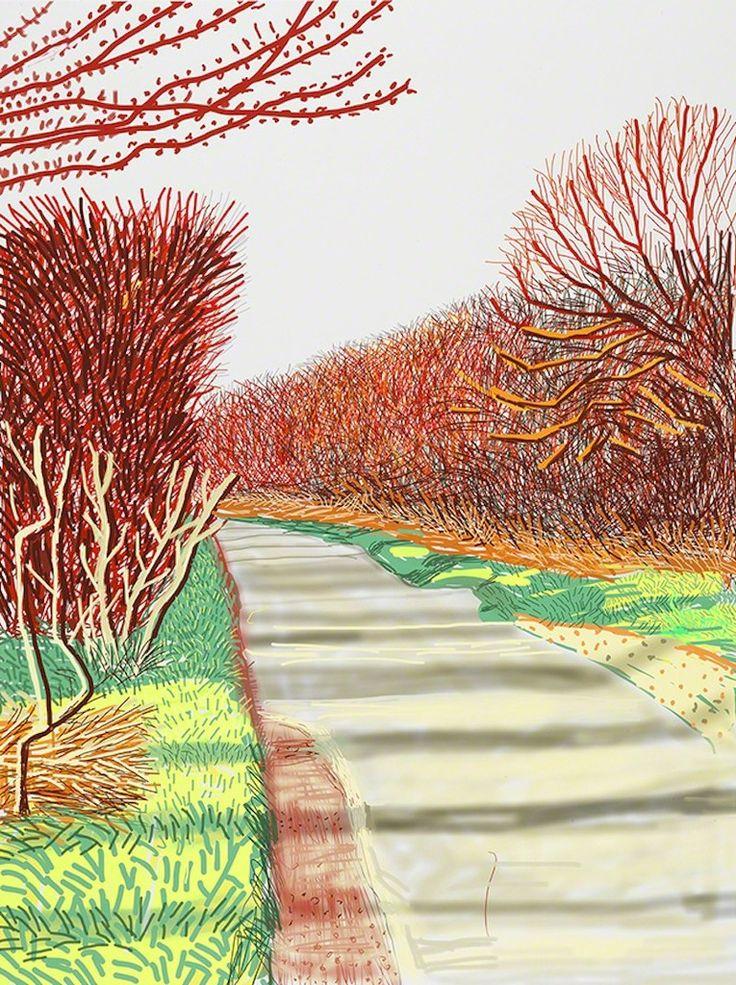 David Hockney, 'The Arrival of Spring in Woldgate, East Yorkshire in 2011 (twenty-eleven) - 21 March 2011', 2011