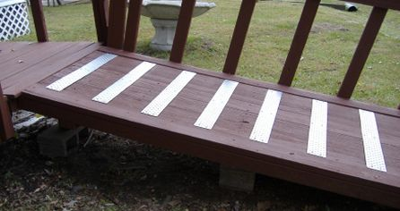 Wood Ramp With Handitreads Wheelchair Ramps And Lifts