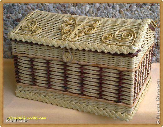Поделка изделие Плетение Июнь Бумага газетная Картон Трубочки бумажные фото 2