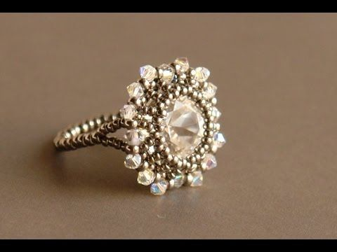 Sidonias - Grace Ring - Ring tutorial - Square cabochon tutorial - Beading techniques, My Crafts