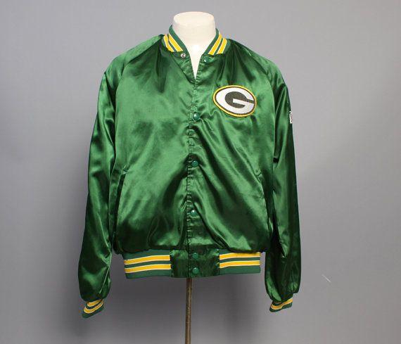 80s GREEN BAY Packers Baseball JACKET / Shiny