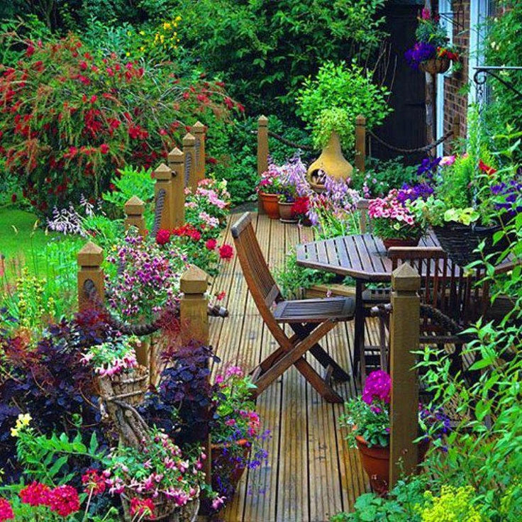 lovely flowery garden!