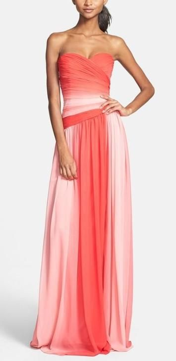 Long ombre dress in shades of pink find more women fashion on misspool.com