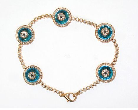 Lorraine Schwartz Evil Eye Bracelet- I have LOVED this bracelet from a far for so so long!