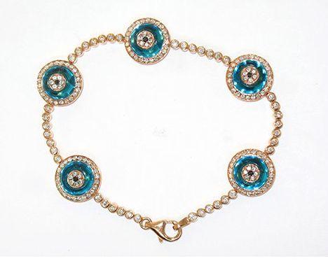 Lorraine Schwartz Evil Eye Bracelet- I have LOVED this bracelet from a far for so so long!