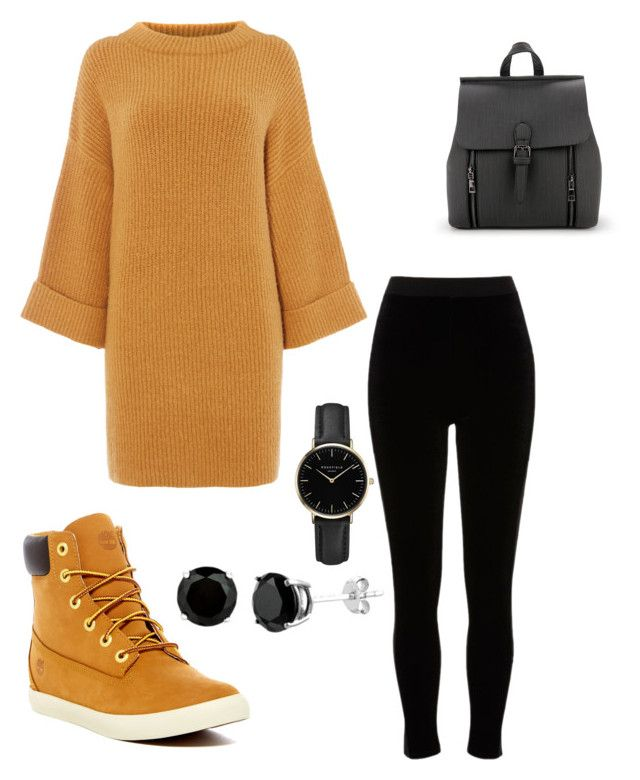 """Fall outfit"" by aichahh on Polyvore featuring River Island, Timberland, ROSEFIELD, Fall, fashiontrend and fashionset"