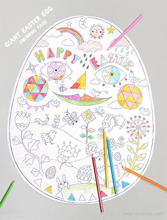 Get Ready To Boost Some Easter Excitement With These Egg Cellent Printable Coloring Pages Six Sheets Can Be Completed As