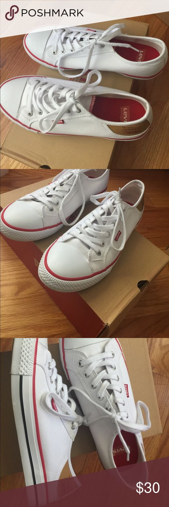 Levi sneakers White Levi brand converse style sneakers Levi's Shoes Sneakers